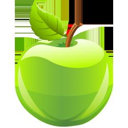 Rubbel Dir einen Apfel